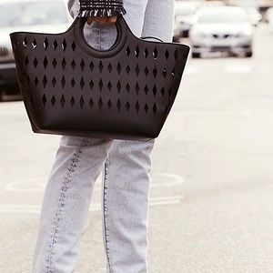 Free People Cut Out Tote in Black. BNWT!